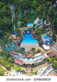 Ipoh, Perak : March 18, 208 - Aerial view of Lost World of Tambun water park. Lost World of Tambun located at Ipoh is Malaysia's premiere multi-themed action and adventure family holiday destination.