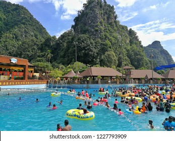 Ipoh, Perak : November 10th, 2018 - The Lost World of Tambun located in Ipoh, Perak is Malaysia's premiere multi-themed action water park and adventure family holiday destination