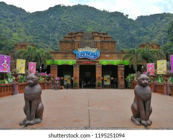 Ipoh, Perak :October 04, 2018 - The Lost World of Tambun located at Ipoh, Perak is Malaysia's premiere multi-themed action water park and adventure family holiday destination