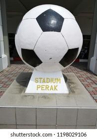 Ipoh, Perak : October 7th 2018 - Front view of the Stadium of Ipoh, Perak, Malaysia.