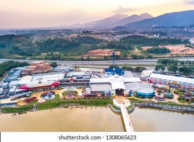 IPOH,Perak Malaysia - February 6, 2019  Aerial view of Movie Animation Park (MAPS) in Ipoh, Perak