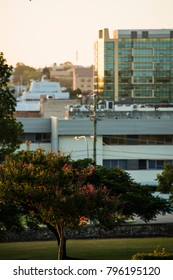 Ipswich, Australia - Tuesday 16th January 2018: View of the Ipswich City CBD in the afternoon on Tuesday 16th January 2018.