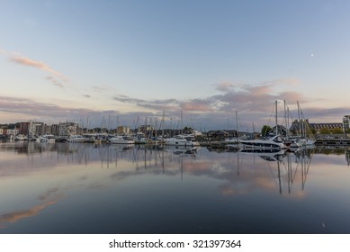 Ipswich harbour on a calm tranquil evening