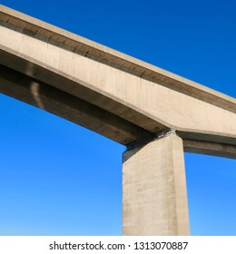 Ipswich, Suffolk, UK - February 14 2019: The Orwell Bridge in Ipswich, Suffolk.