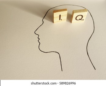 IQ / Head silhouette with `I` and `Q` letters