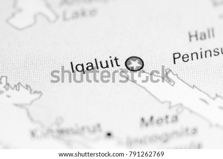 Iqaluit Canada Map.Iqaluit Canada On Map Stock Photo Edit Now 791262769 Shutterstock
