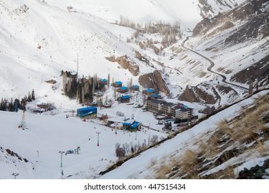 Iran, Dizin, 5 January 2016: Photo of Dizin ski resort