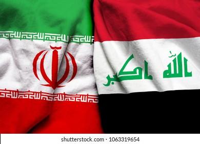 Iran and Iraq flag together