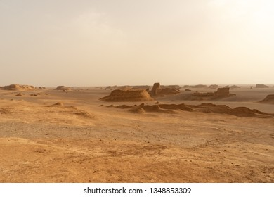 Iran, Kalut Shahdad Desert the 25 of April 2018. Hottest place on earth. Sand formations and camels. A tourist excursion.