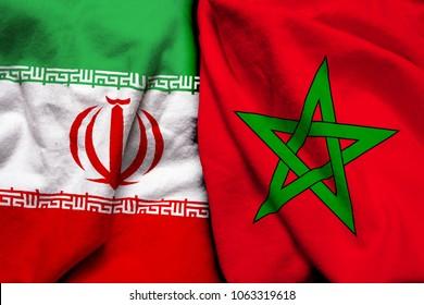 Iran and Morocco flag together
