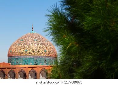 Iran. Part of Sheikh Lotfollah Mosque at Naqsh-e Jahan square in Isfahan. 17th century.