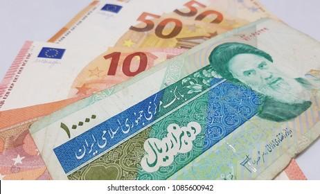 Iran Riyal Euro Dollar
