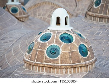 Iran. Roofs In Kashan. Fragment photo from roof of Hammam Sultan Mir Ahmad . Kashan. Iran. From here it is most gorgeous panoramic view of the city Kashan