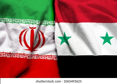 Iran and Syria flag together