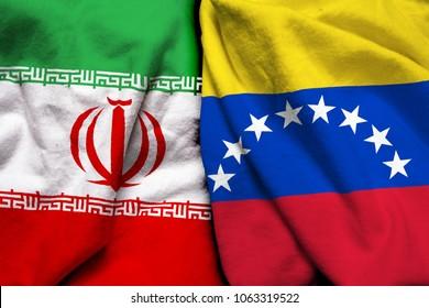 Iran and Venezuela flag together