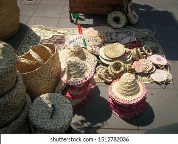 iran,gilan, rasht 07 05 2019: Handicrafts exhibition in central square Rasht, Gilan, Iran. Handicrafts exhibition in downtown Rasht.