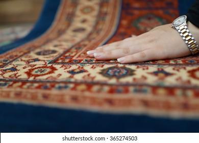 Iranian beautiful girl in famous Persian carpet store