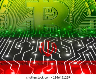 Iranian cryptocurrency concept