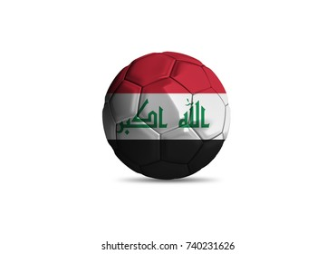 Iraq ball Flag, High quality render of 3D football ball