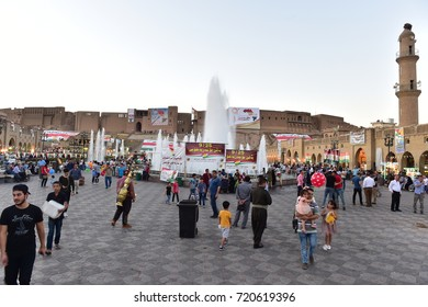 IRAQ / Erbil / 23 September 2017: Iraqi Kurdistan regional independence  referendum.