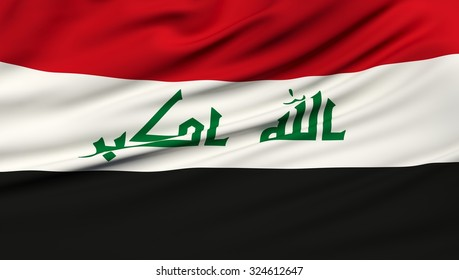 Iraq Flag. 3d illustration