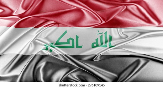 Iraq Flag. Flag with a beautiful glossy silk texture.
