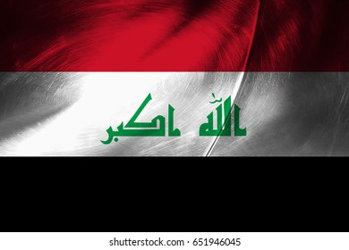 Iraq flag grunge background. Background for design in country flag