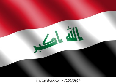 Iraq flag for Independence Day