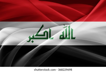 Iraq flag of silk