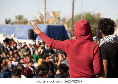 Iraq, Najaf -  December 24,2019 People protest against the authority in Iraq