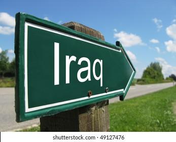 IRAQ road sign