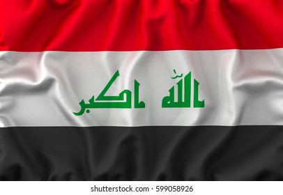 Iraq Waving Flag. 3D rendering