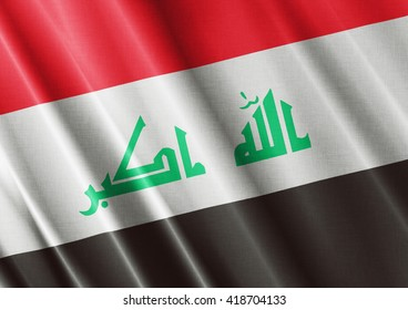 Iraq waving flag close