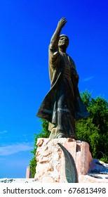 Iraqi poet Al-Mutanabbi Statue at the end of Mutanabbi Street 31-10-2011 Baghdad, Iraq