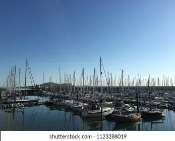 Ireland, Dublin, Howth 28 th June 2018 : Yachting in Howth harbor