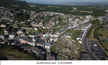 Ireland, Dublin, Howth 28-th June 2018 : Aerial view of Howth building !