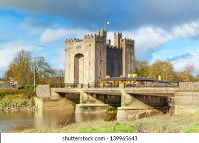 IRELAND - FEB 19: Bunratty Castle in Ireland on 19 february 2012. Castle  is a large tower house in County Clare and lies in the centre of Bunratty village. Is local tourist attraction in Ireland.