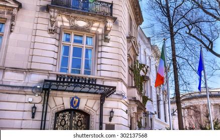 Ireland Irish Embassy Embassy Row Massachusetts Avenue Washington DC