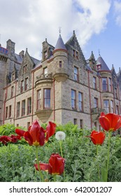 Ireland, MAY 9: Exterior view of the Belfast Castle on MAY 9, 2017 at Northen Ireland
