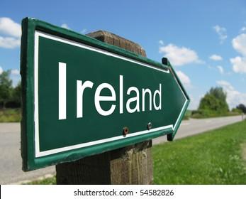 IRELAND road sign