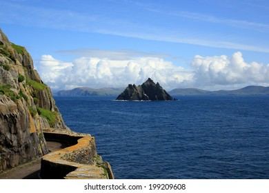 Ireland view from Skellig Michael to Little Skellig, Valentia Island, Europe