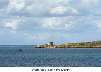 Ireland's Eye - A small island off the coast of Ireland in Dublin Bay, near Howth
