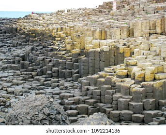 Ireland's Giant Causeway Shape of Stone Volcanic Fissure Giants Causeway, UNESCO Heritage Site Pathway to Scotland