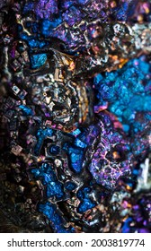 Iridescent color metal surface (bismuth)