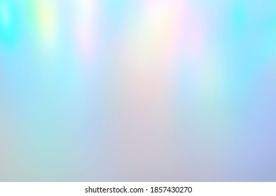Iridescent holographic abstract aurora light neon colors background. Blurred pastel multicolored backdrop from lights