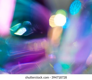 Iridescent holographic Rainbow Crystal Abstract