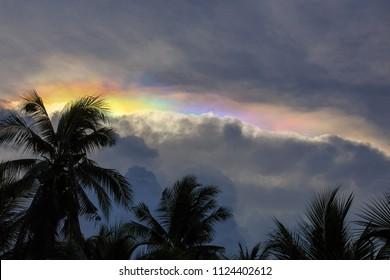 Iridescent Pileus clouds