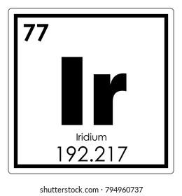 Iridium chemical element periodic table science symbol