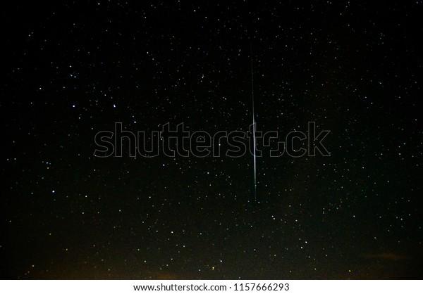 Iridium Flare Night Sky Stock Photo (Edit Now) 1157666293