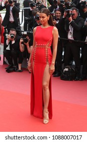 Irina Shayk attends the screening of 'Sorry Angel (Plaire, Aimer Et Courir Vite)' during the 71st annual Cannes Film Festival at Palais des Festivals on May 10, 2018 in Cannes, France.